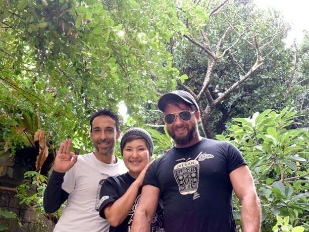 ディンゴさんと高倉直子さんとハビさん