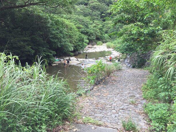 川への入り口
