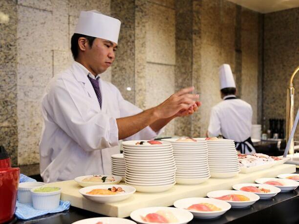 お寿司も握りたて