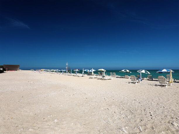広がる砂浜