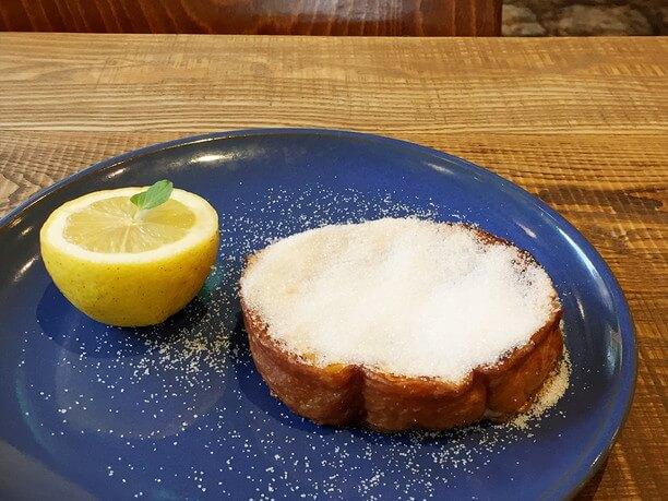 フレンチトーストおおうえ農園のレモンとシュガー