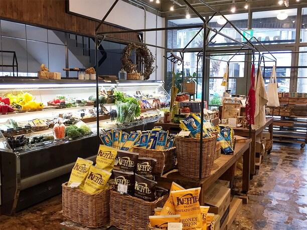 野菜や食材を中心に販売しているパントリー