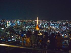 六本木ヒルズ展望台から見る夜景