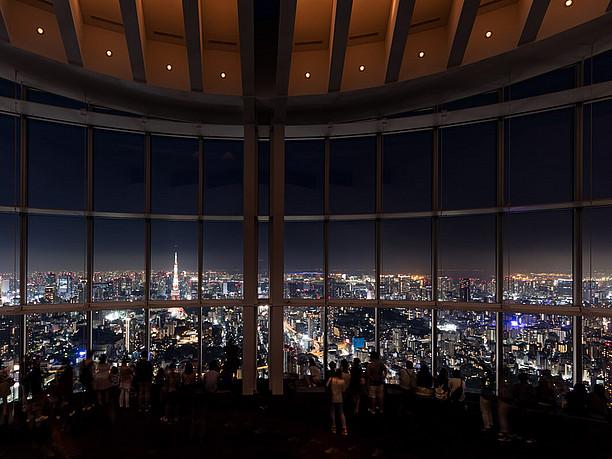 六本木ヒルズの52階に位置する屋内展望回廊