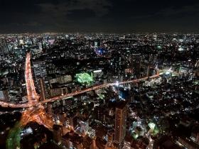東京タワーからのイルミネーション風景
