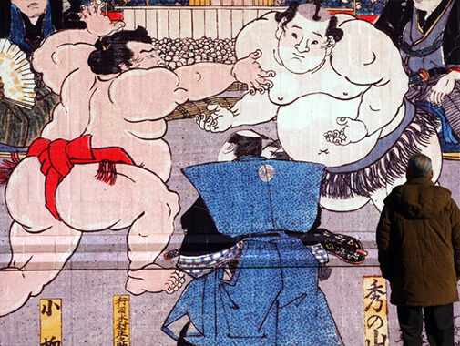 相撲の浮世絵