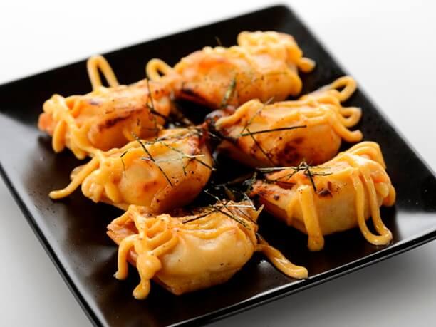 オモシロ企画で注目の炙りめんたいマヨ餃子
