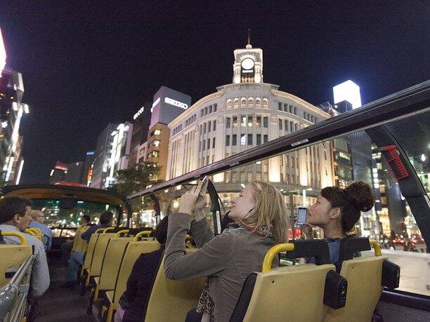 夜のスカイバス