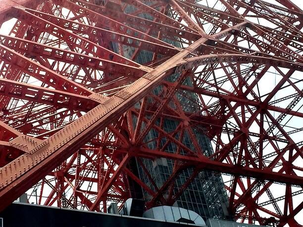 東京タワーとスカイバス