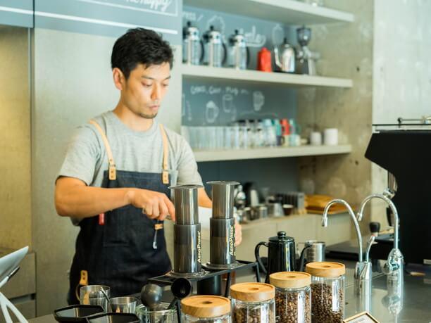 カフェのキッチンの様子