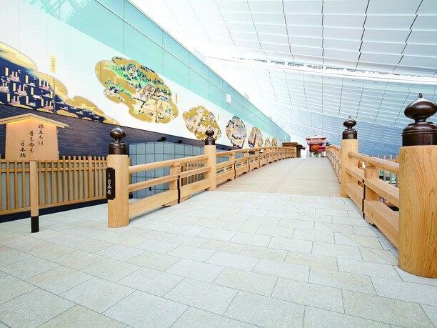 総檜造りの全長25m『はねだ日本橋』