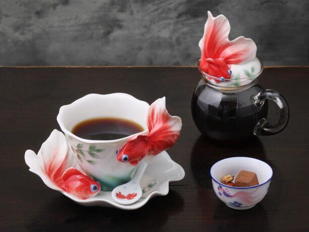 金魚の茶器