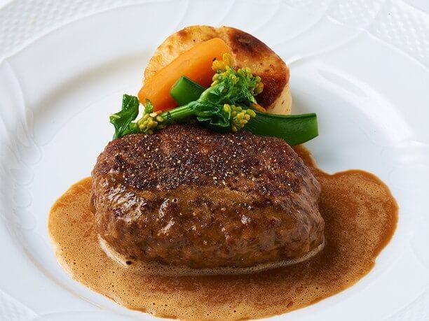 熟成肉のハンバーグステーキ