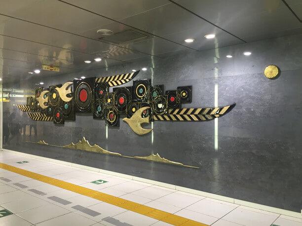 汐留駅のパブリックアート