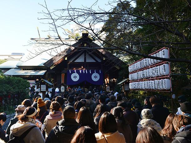 東京大神宮の初詣の様子