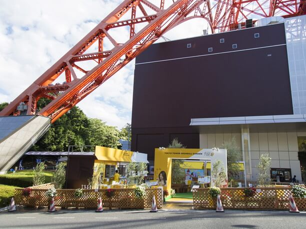 東京タワーの真下にある「TOKYO TOWER HIGHBALL GARDEN」