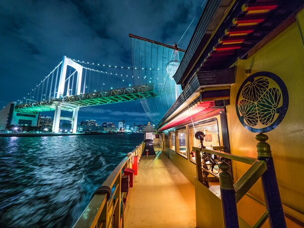 東京湾の夜景を満喫