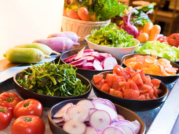 契約農家から直送された野菜たち