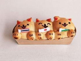 3国3匹子猫のカレーパン