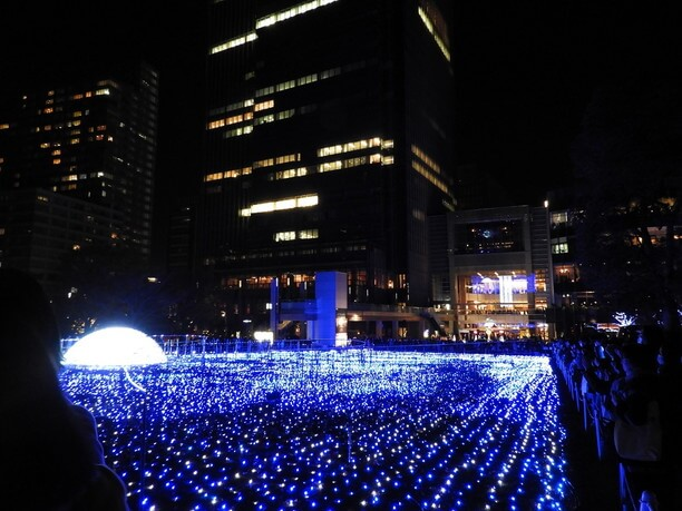 東京ミッドタウン冬のイルミネーション
