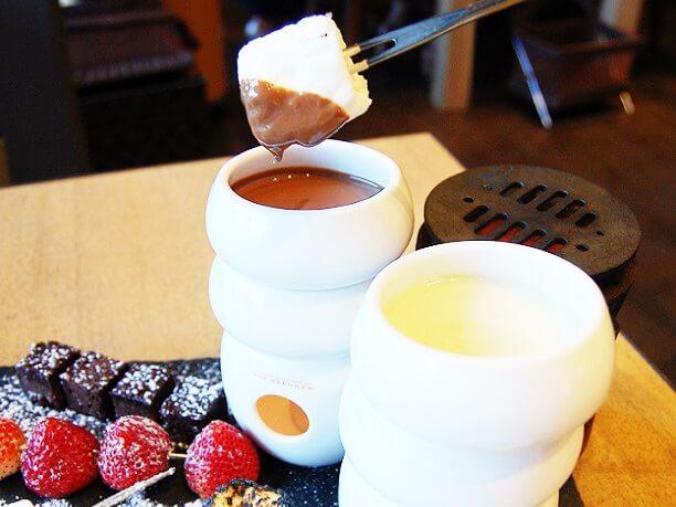 フォンデュのチョコレート