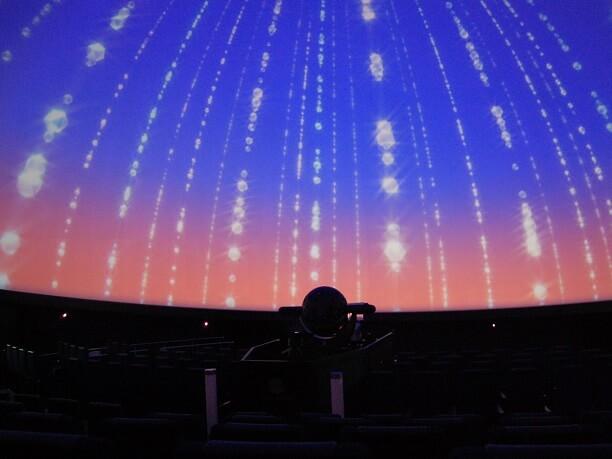 頭上に広がるドーム型のスクリーン